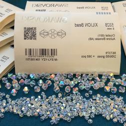 Swarovski® Crystal Bicone Beads #5328 CRYSTAL AB - Choose 7