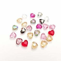 Swarovski® Crystal faceted heart LOVE Beads 8MM 5741 Mixed