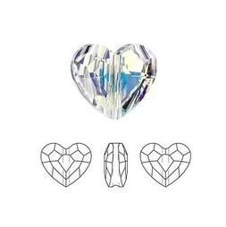 Swarovski Crystal Faceted Love Beads Heart 5741 Clear AB  8m