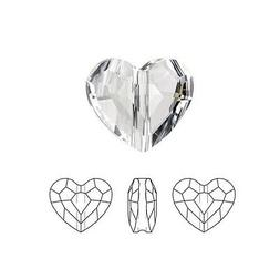 Swarovski Crystal Faceted Love Beads Heart 5741 Clear  8mm P