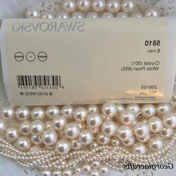 Swarovski® Crystal Pearls #5810 - White - FACTORY PACKS -or