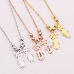 Customized Engraved Necklace Name Date Stainless Steel Baby