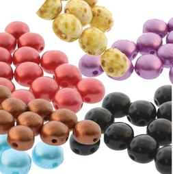 Preciosa Czech Glass Candy Beads 6mm or 8mm 2-Hole Round Coi