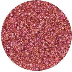 Czech Glass Seed Beads Size 11/0 True Rose Iris
