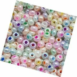 Czech Seed Beads 6/0 Pastel Pearl Mix Assorted