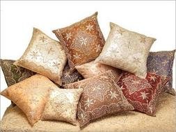 decorative beaded sparkly throw pillow cushion cover