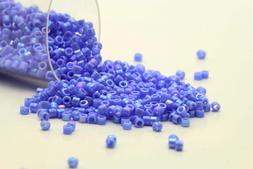 Miyuki Delicas 11/0 Opaque LT. Lapis Luster AB Seed Beads DB