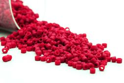 Miyuki Delicas 11/0 Opaque Matte DK.Red Seed Beads DB-796