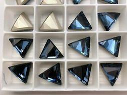 Denim Blue 15mm Swarovski Crystal 4617 Delta Triangle Fancy
