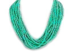 Designer-Style Multi -Strand Seed Beads Aqua Blue  Seed Beed