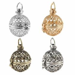 DIY 1PCS Cages Hollow Ball Alloy Charms Beads Pendants Neckl