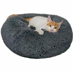 Donut Dog Bed Cat Calming Anxiety, Pet Fluffy Cuddler For Sm