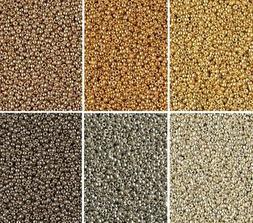 Duracoat Galvanized Metallics Miyuki Seed Beads Size 15/0, 6