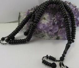 Ebony payer beads- Komboloi-Tasbih-Masbah 100 bead