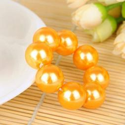 Elastic Big Pearl Hair Rope Beads Hairband For Girls Crown H