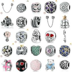 Authentic 925 Sterling SILVER European Charms Xmas Beads Pen