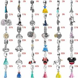 European Charms Silver Beads Pendant CZ Fit 925 Sterling Bra