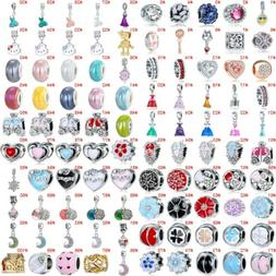 European Silver Charms Dresses Beads Gifts CZ Pendant Fit 92