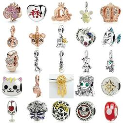 European Silver Fine Charms Beads Xmas Gifts CZ Pendant Fit