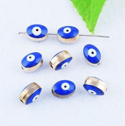Evil Eye Loose Charms Spacer Beads Metal Jewelry Findings DI