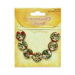 Expo Cloisonne Donut Beads Pack of 7