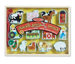 Melissa & Doug Farm Lacing Beads With 13 Wooden Beads and 1