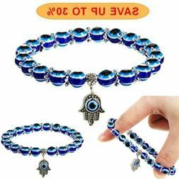 Fashion Blue Evil Eye Bead Protection Good Luck Bracelet Tur