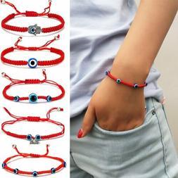 Fashion Lucky Evil Eye Beaded Bracelet Rope String Braided B