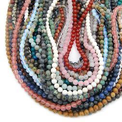 Fashion Natural Gemstones Round Loose Beads Jewelry Making 1