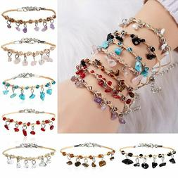 Fashion Natural Stone Tassel Beads Bracelet Women Handmade W