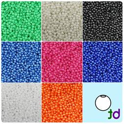 BeadTin Faux Pearl 4mm Round Plastic Craft Beads  - Color ch