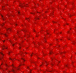 Fire Red 6mm Round Beads 500pc USA for crafts fishing jewelr