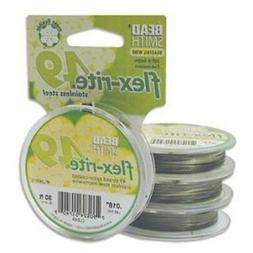 Beadsmith Flex-rite 49 Strand Beading Wire - Clear Coated S.