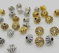 Free 200PCS Tibetan Silver Glod Bronze Spacer Beads For Jewe