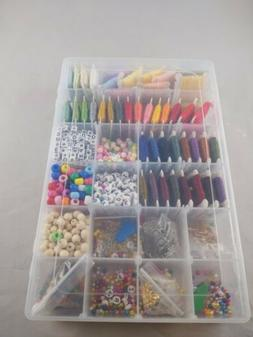 Friendship Bracelet Making Kit, Letter Beads, Multicolor Emb