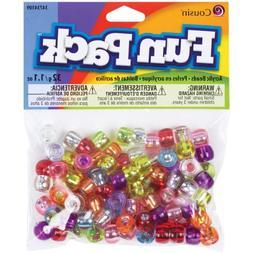 Cousin Fun Pack Acrylic Pony Beads, 1.1 oz