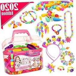 FunzBo Snap Pop Beads for Girls Toys - Kids Jewelry Making K