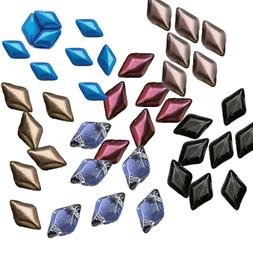 Gemduo 8x5mm Czech Glass 2-hole Diamond shape beads Matubo 3