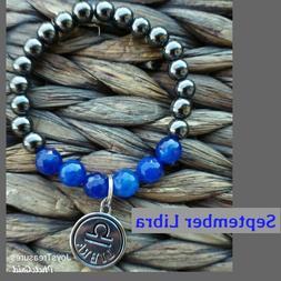 Gemstone Bracelets Handmade Beaded Stretch Zodiac Child Wome