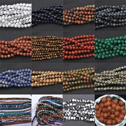 Natural Gemstone Round Spacer Loose Beads 4MM 6MM 8MM 10MM A
