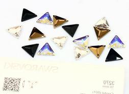Genuine SWAROVSKI 3270 Triangle Flat Sew-On Stones Crystals