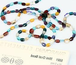 Genuine SWAROVSKI 5051 Mini Oval Crystal Beads * Many Sizes