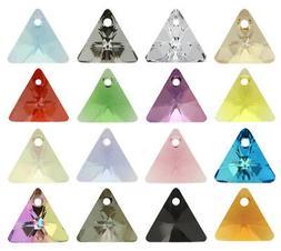 Genuine SWAROVSKI 6628 XILION Triangle Crystals Pendants * M