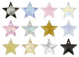 Genuine SWAROVSKI 6714 Star Crystals Pendants * Many Colors