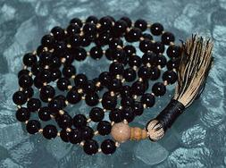 genuine and energized tourmaline mala beads necklace