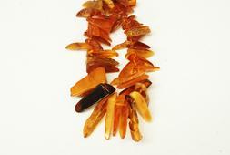 genuine regular amber chip shape 10x20mm 25inches