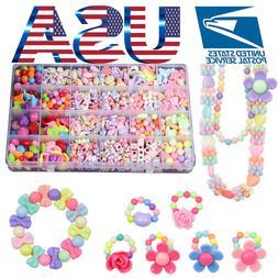Girls Kids Child Necklace Bracelet Make Own Beads Jewellery