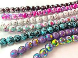 Glass Beads 8mm for Bracelet Jewelry Making Spacer Bead 200
