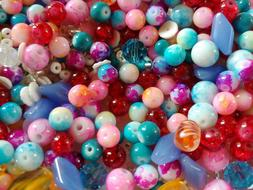 GLASS BEADS Big Lot for Jewelry Making & Crafts 20.98 Ounces