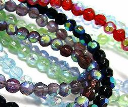 Glass Beads Bulk for Jewelry Making Mix Color 5 lbs Cube Rou
